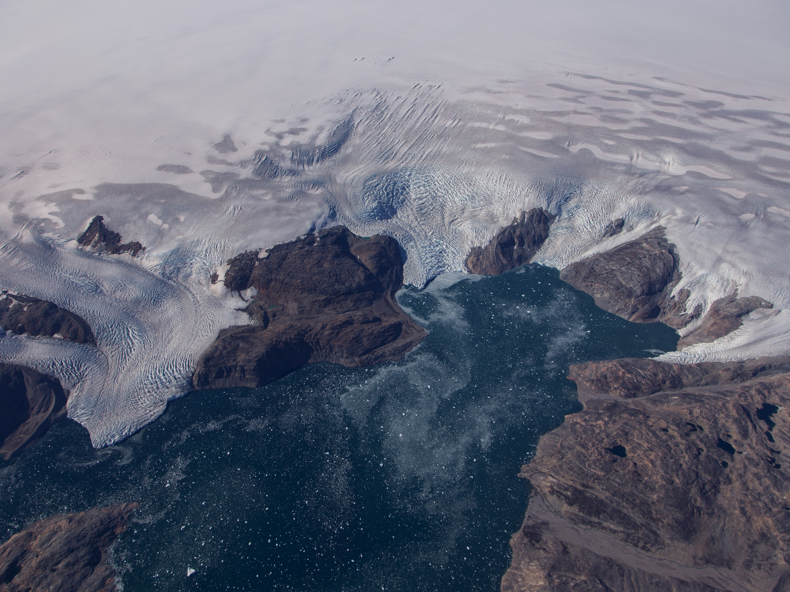 Bruckner and Heim glaciers in Eastern Greenland