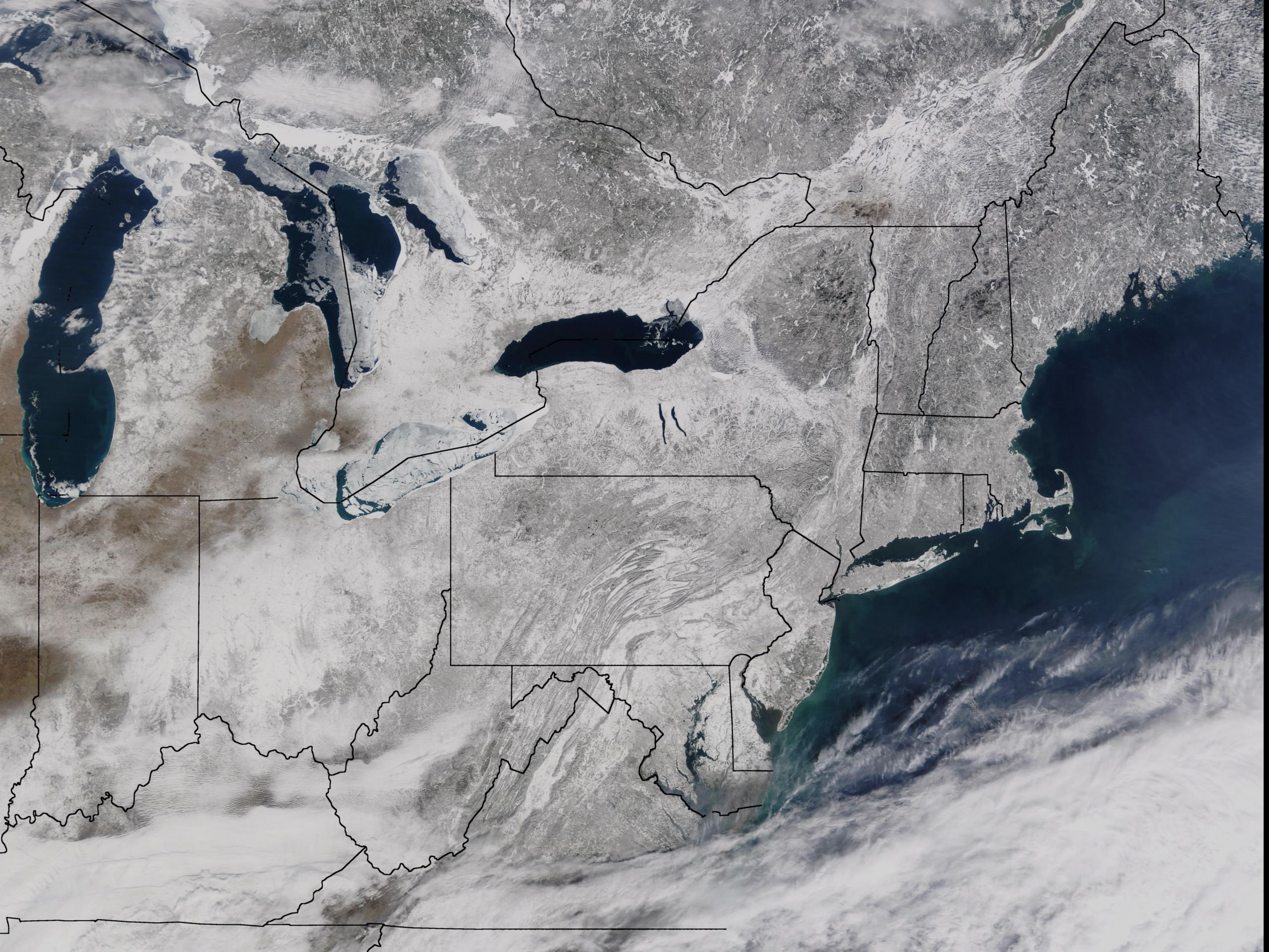Snow cover of the central mid-Atlantic region