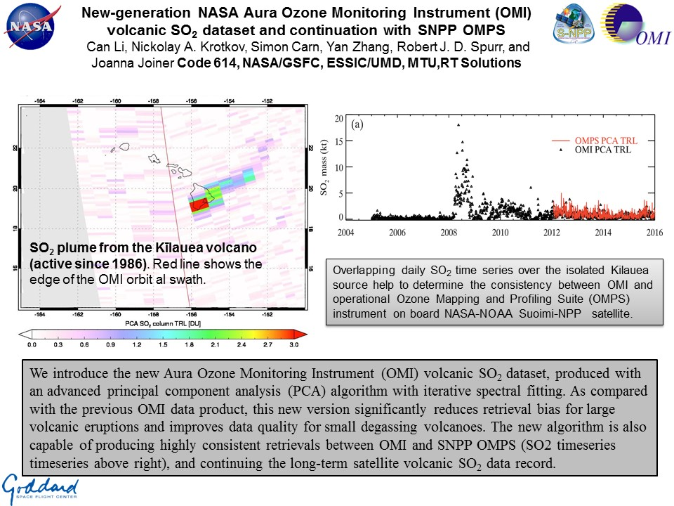 New-generation NASA Aura Ozone Monitoring Instrument (OMI) volcanic SO2 dataset and continuation with SNPP OMPS