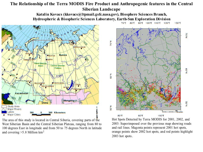The Relationship of the Terra MODIS Fire Product and Anthropogenic features in the Central Siberian Landscape