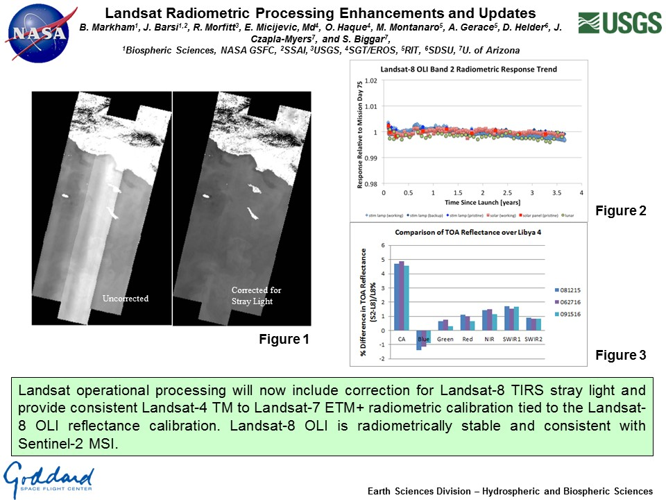 Landsat Radiometric Processing Enhancements and Updates
