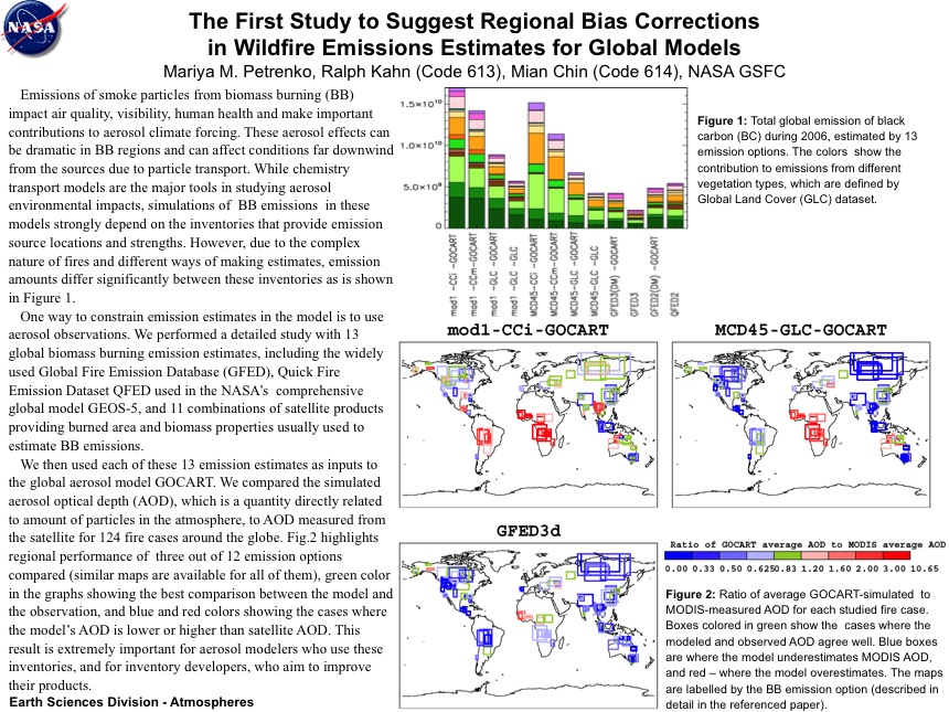 The First Study to Suggest Regional Bias Corrections in Wildfire Emissions Estimates for Global Models