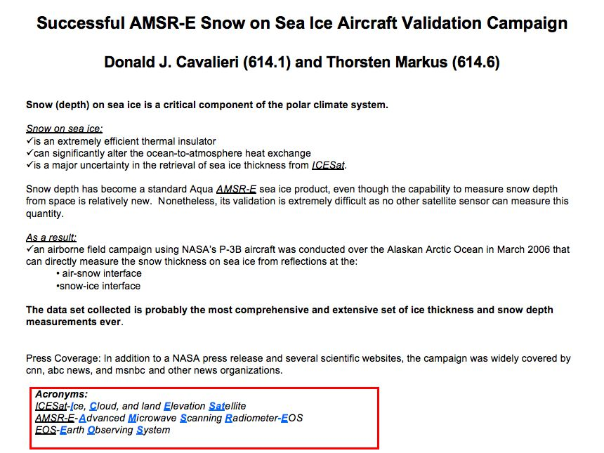 Successful AMSR-E Snow on Sea Ice Aircraft Validation Campaign