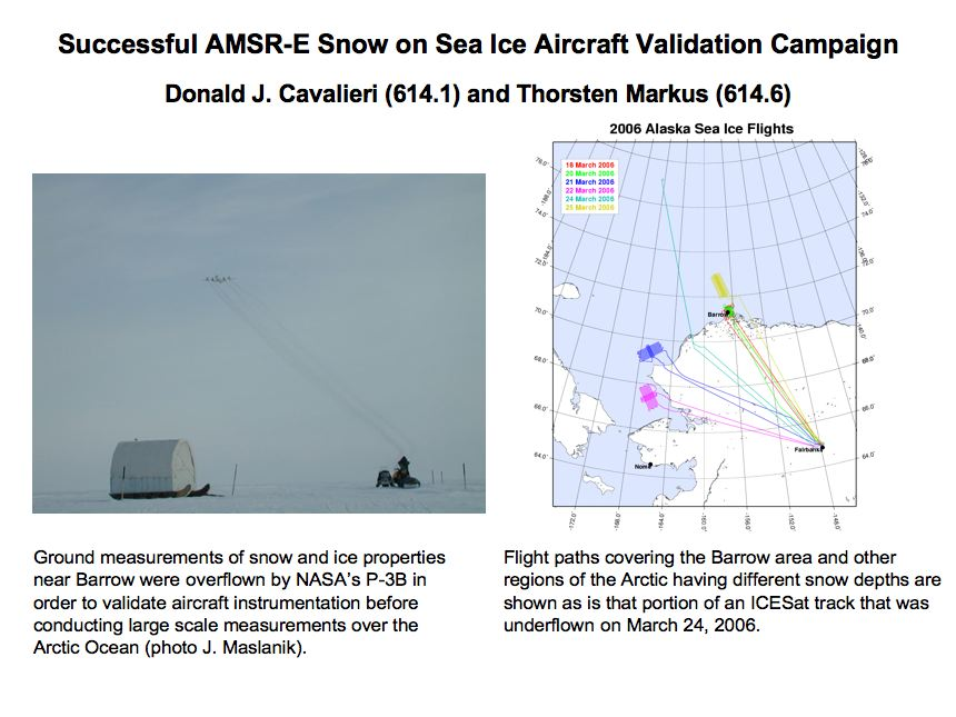 Successful AMSR-E Snow on Sea Ice Aircraft Validation Campaign (continued)