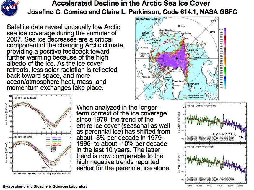 Accelerated Decline in the Arctic Sea Ice Cover