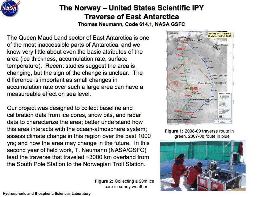 The Norway – United States Scientific IPY Traverse of East Antarctica