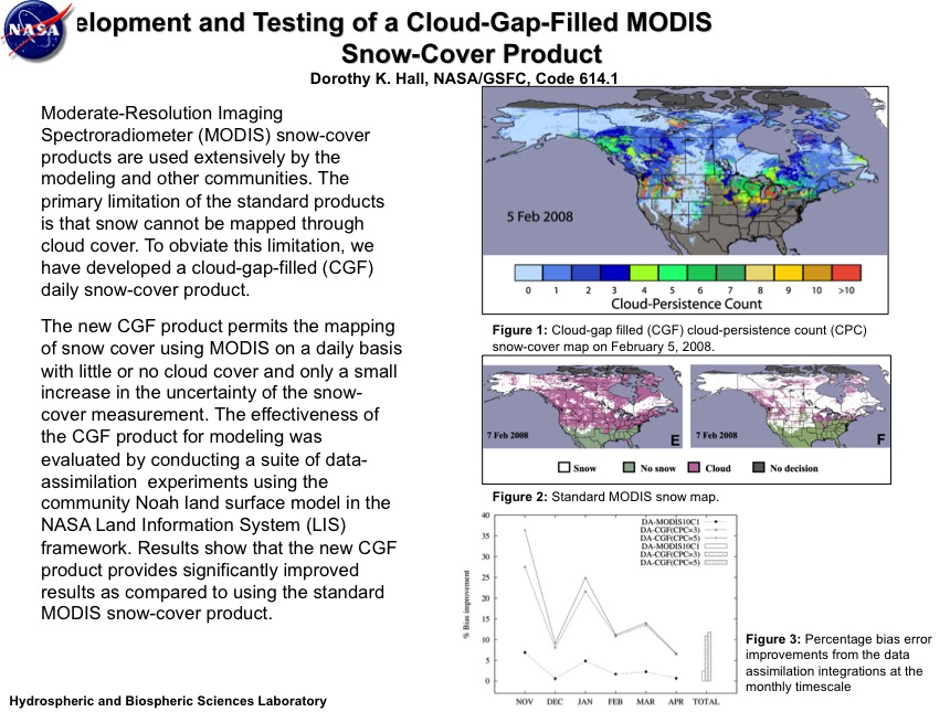 Development and Testing of a Cloud-Gap-Filled MODIS Snow-Cover Product