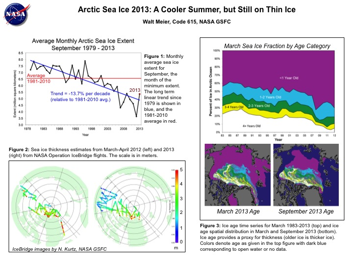 Arctic Sea Ice 2013: A Cooler Summer, but Still on Thin Ice