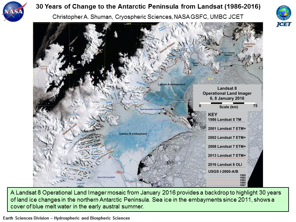 30 Years of Change to the Antarctic Peninsula from Landsat (1986-2016)