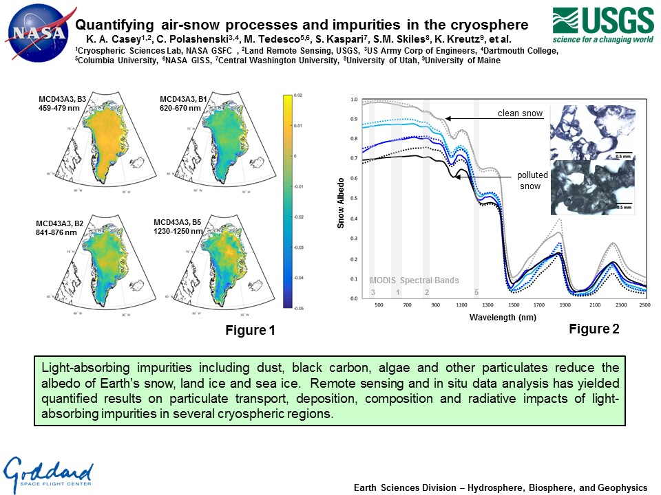 Quantifying air-snow processes and impurities in the cryosphere