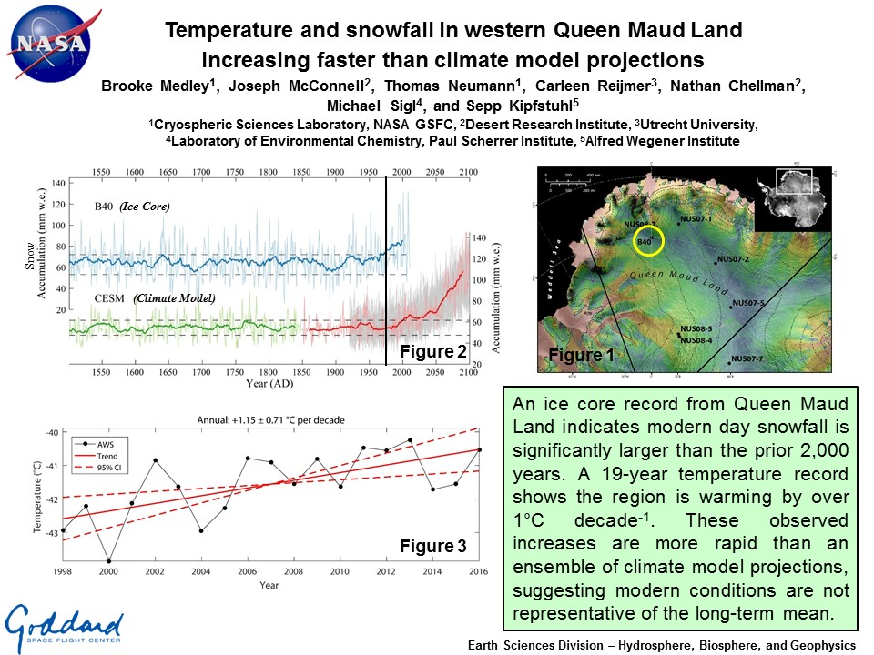 Temperature and snowfall in western Queen Maud Land increasing faster than climate model projections