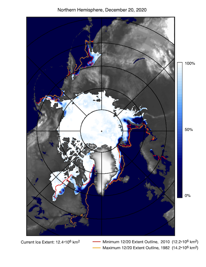 Ice cover Northern Hemisphere