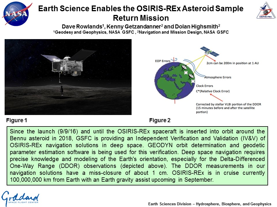 Earth Science Enables the OSIRIS-REx Asteroid Sample Return Mission