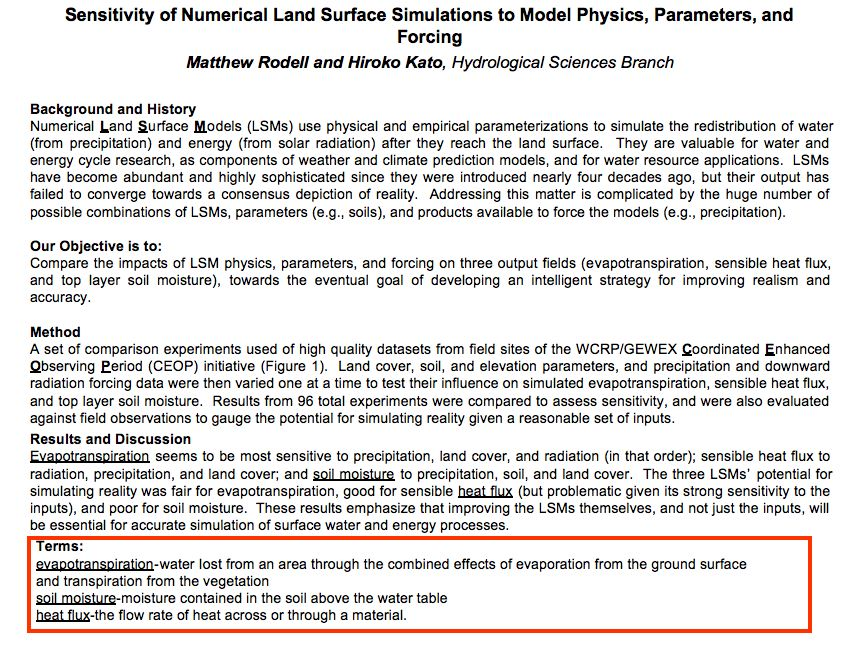 Sensitivity of Numerical Land Surface Simulations to Model Physics, Parameters, and Forcing