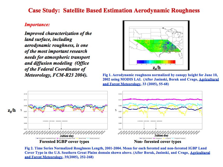 Physically Based Estimation of Aerodynamic Roughness Using Satellite Imagery Case Study: U.S. Southern Great Plains (continued)