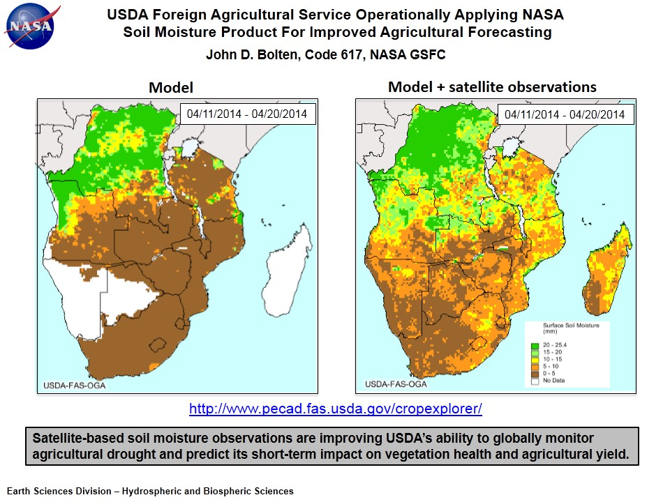 USDA Foreign Agricultural Service Operationally Applying NASA  Soil Moisture Product For Improved Agricultural Forecasting