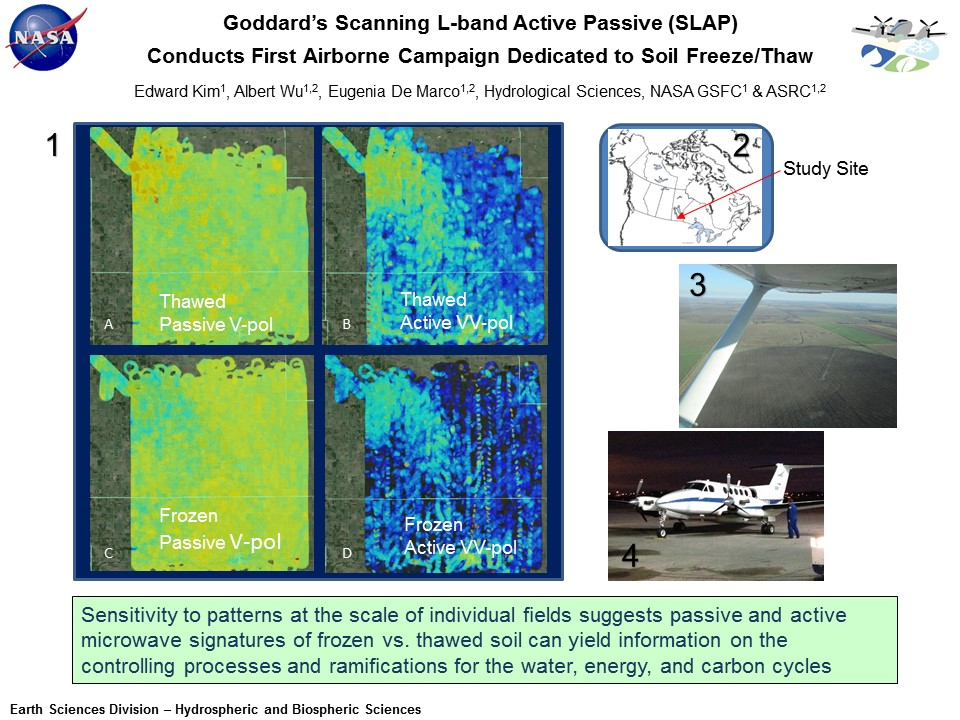 Goddard's Scanning L-band Active Passive (SLAP)  Conducts First Airborne Campaign Dedicated to Soil Freeze/Thaw