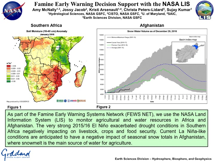 Famine Early Warning Decision Support with the NASA LIS