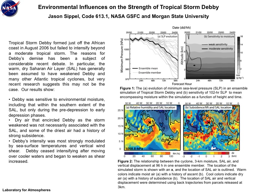 Environmental Influences on the Strength of Tropical Storm Debby