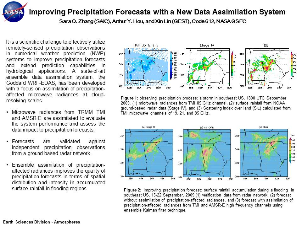 Improving Precipitation Forecasts with a New Data Assimilation System