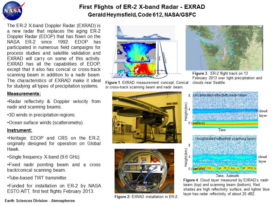 First Flights of ER-2 X-band Radar - EXRAD