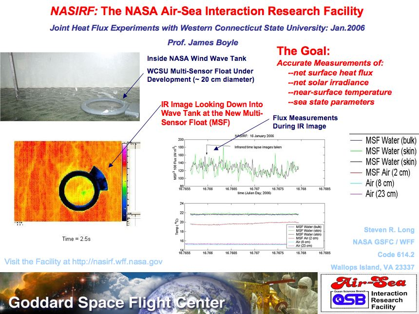 NASIRF: The NASA Air-Sea Interaction Research Facility - Joint Heat Flux Experiments with Western Connecticut State University: Jan. 2006