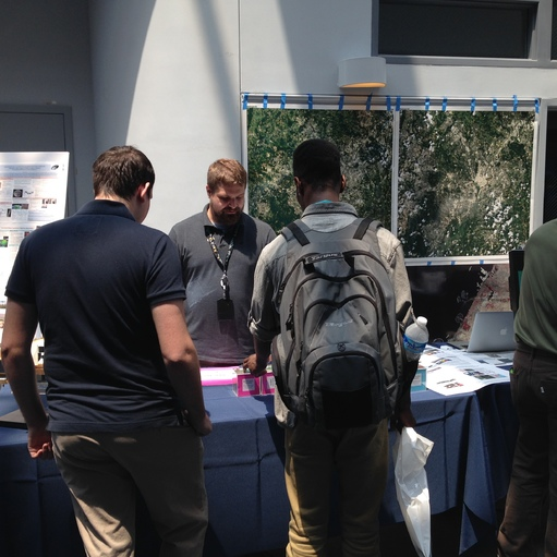 Biospheric Sciences Laboratory Scientist explaining the use of satellite data in characterizing land cover and land use.