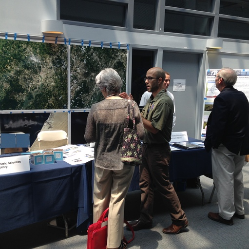 JBiospheric Sciences Laboratory Scientists explaining the use of remote sensing in land use monitoring.
