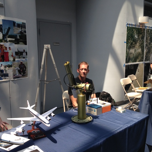 Biospheric Sciences Laboratory Scientist setting up the sun-photometer.