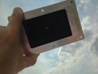 Testing pinhole attenuator for SOLARIS