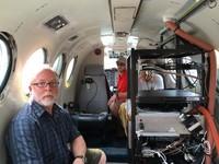 Bryan Blair (GSFC), Matt Brame (LaRC) and and David Rabine (GSFC) on the B-200 aircraft working on the Land, Vegetation, and Ice Sensor (LVIS).