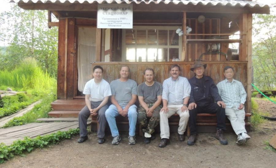 Members of the 2012 Siberian Forest Expedition to the Embenchime River in central Siberia.