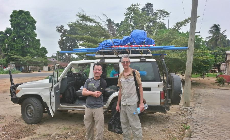 Getting ready to hit the road for the Rufiji Delta. Left to right: SeungKuk Lee (NASA/GSFC) and Carl Trettin (USFS)