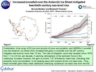 Increased snowfall over the Antarctic Ice Sheet mitigated twentieth-century sea-level rise
