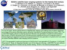NASA's satellite laser ranging systems for the twenty-first century