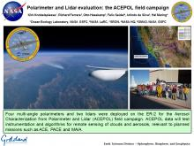Polarimeter and Lidar evaluation: the ACEPOL field campaign
